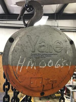 Yale 1 Ton Model Lh Manual Coffing Hoist 12 Chain.