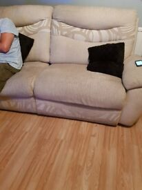 Cream sofa recliner