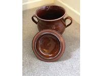 Large Ceramic Casserole / Stew pot with lid