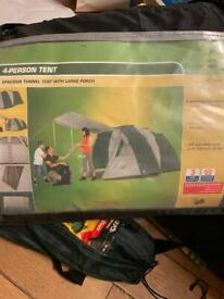 4 person tent with large porch