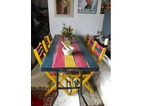 Vintage Folding Table. Chairs Also Available