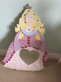 Wooden Princess Mirror