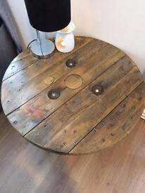 Reclaimed timber top table