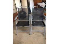 2x patio chairs black