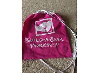 Build a bear pink carry bag