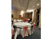 Chair covers and bow for hire