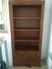 Dark hardwood book shlef in excellent condition