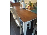 DFS Shore Dining table Butchers block Style Seats 6 Extends To 8