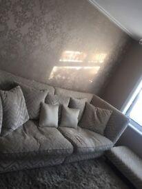 RICHMONDE beige sofology sofa and puffy