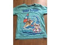 Paw patrol 'surfs pup' tshirt 5-6