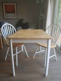 Upcycled table and 2 x chairs