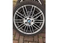 Genuine BMW M Performance alloys very rare 5x120 18s staggered