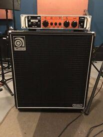 Orange OB1-500 Bass Head & Ampeg 410HE bass cab