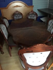 French style table and chairs