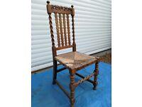 Oak 'Barley Twist' chair