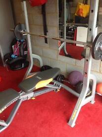 York diamond Olympic weights bench
