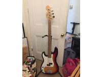Bass Guitar, left handed, restrung, bargain