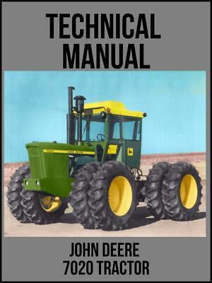 John Deere 7020 Tractor Technical Manual Tm1031 On Usb Drive