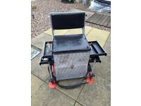 Fishing box with seat