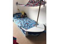 Fabulous Pirate Ship bed, including mattress £100 ONO