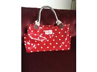 Cath Kidston Red Sopt Oil Cloth Grab Bag