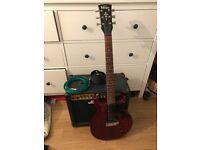 Vintage V130CRS Electric Guitar and Amp