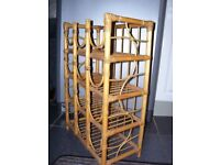 Bamboo and wicker 12 bottle wine rack shabby chic probject