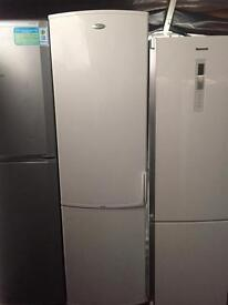 Whirlpool white good looking frost free A-class fridge freezer 2meter tall