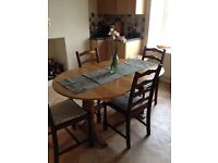 Family kitchen table and chairs