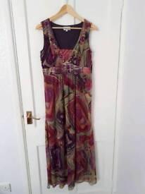 Ladies fushia/magenta long dress