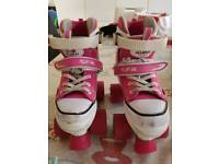 Girls pink trainer style roller skates