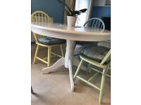 Daisy table and multi colour chairs