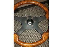 RAID Wooden Steering Wheel