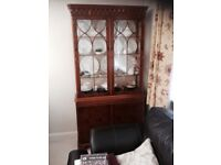 Yew double display cabinet
