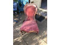 Mahogany spoon back chair