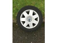 Vw polo or Fox 5x100 5stud spoked alloys tyres are as seen in pictures bargain £££