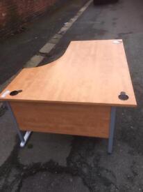 Corner desk 1600mm x1200mm 15 available