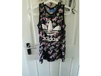 Adidas flower print vest size 8