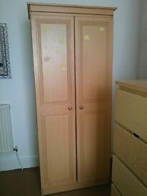 REDUCED 14.05 Double wardrobe (pine colour)
