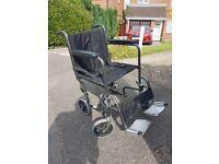 Lightweight folding travel wheelchair
