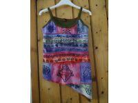 Little Khatmandu Ladies Cotton/Hemp Patchwork Vest