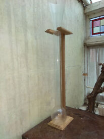 Glass Yard of Ale on Wooden Stand