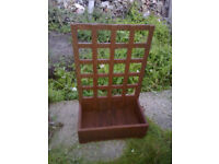 Planter With Attached Trellis
