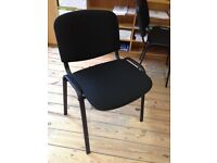 4 x Stacking Black Chairs - STAPLES