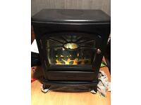 Focal point black electric coal effect fire 2000w