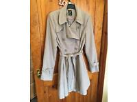 Lilac knee length coat size 12
