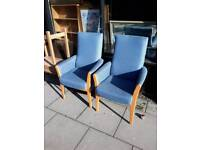 High back armchairs 8 left