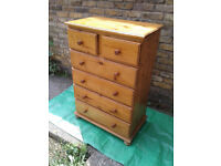 Chest of Drawers 6 DRAWERS (Like a Tall Boy) #FREE LOCAL DELIVERY#
