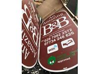 8ft x4ft B&B sign
