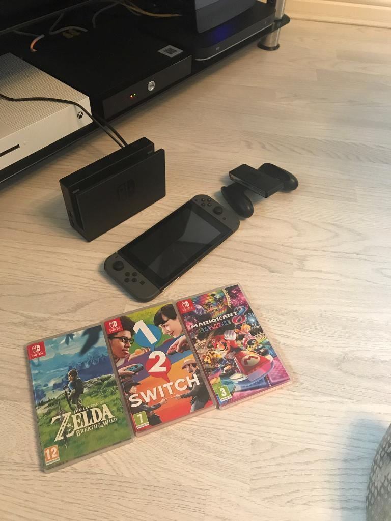 Nintendo switch with 3 gamesin Plymouth, DevonGumtree - Nintendo switch hardly used with 3 games. Only selling due to lack of use